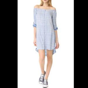 Anthropologie Cloth & Stone stripe chambray dress
